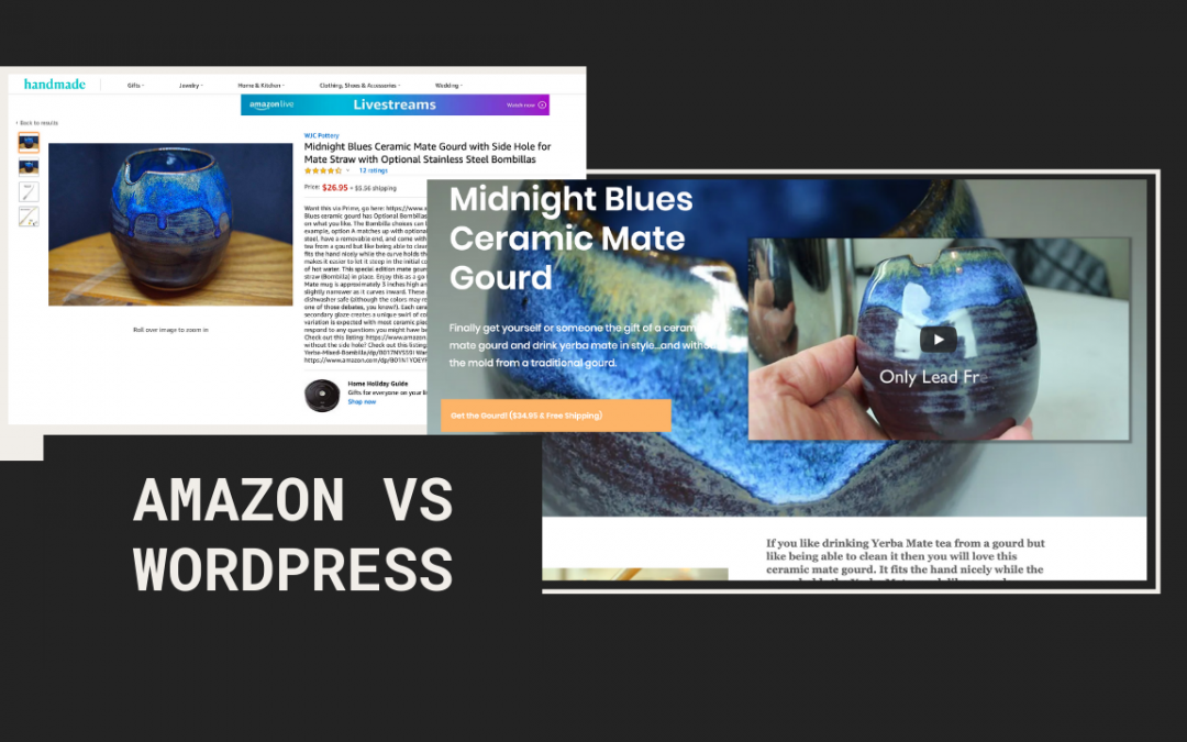 Amazon Handmade Vs WordPress Landing Page